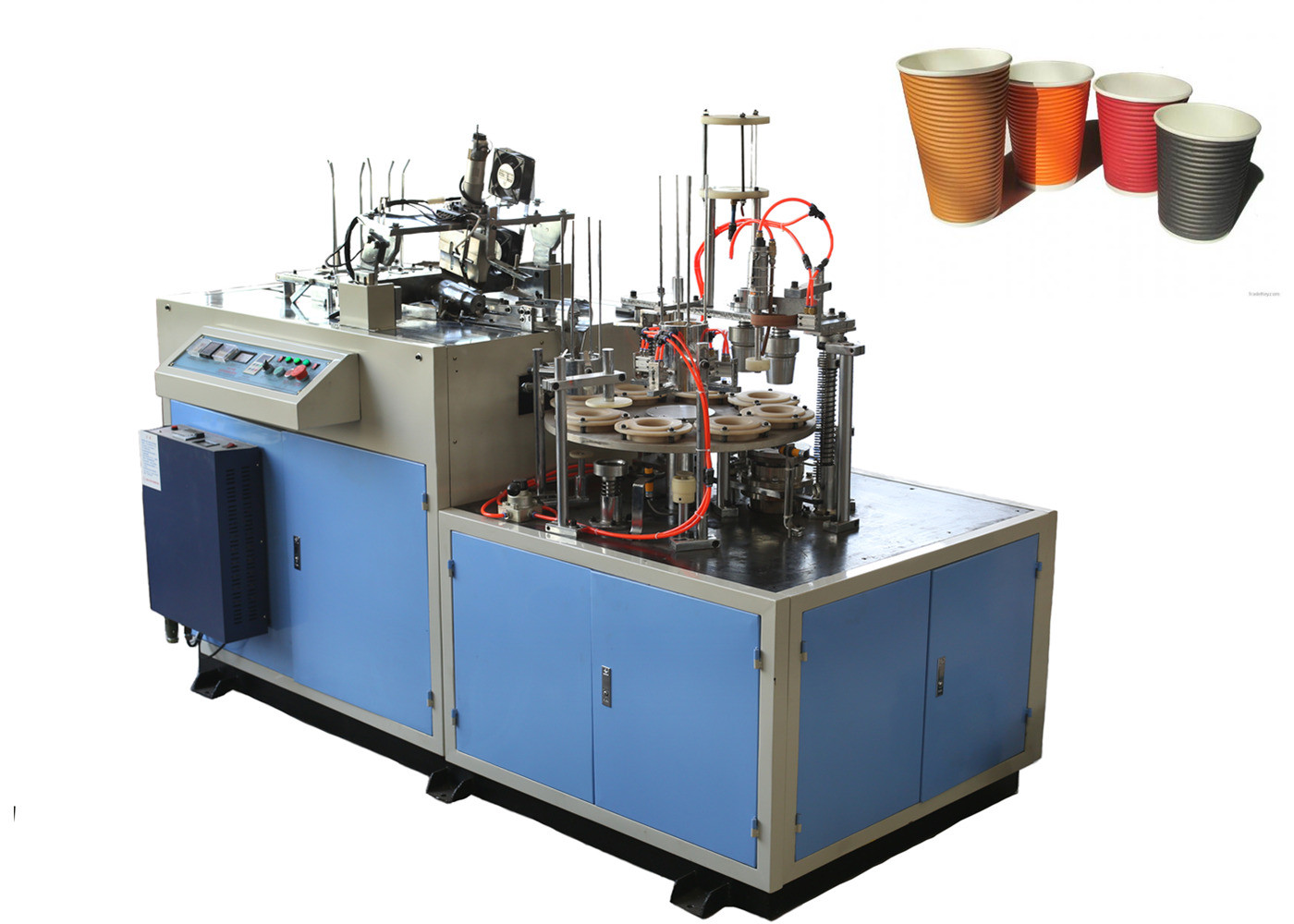Long Lasting Universal Paper Cup Sleeve Machine With Photocell Detection